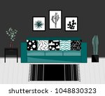 scandinavian style livingroom... | Shutterstock .eps vector #1048830323