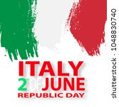 italian republic holiday. festa ... | Shutterstock .eps vector #1048830740