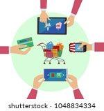 set of flat design concept...   Shutterstock .eps vector #1048834334