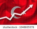 white arrow growth up on the... | Shutterstock . vector #1048835378