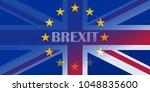 brexit blue european union eu... | Shutterstock .eps vector #1048835600