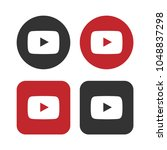 set of play buttons icon ...   Shutterstock .eps vector #1048837298