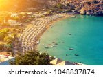 view from above ofmain beach in ...   Shutterstock . vector #1048837874