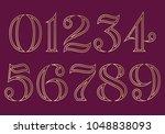 vector unique custom designed... | Shutterstock .eps vector #1048838093