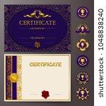 set of elegant templates of...   Shutterstock .eps vector #1048838240
