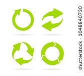 eco cycle abstract vector... | Shutterstock .eps vector #1048840730