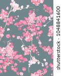 seamless pattern of coral vine... | Shutterstock .eps vector #1048841600