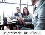 business people shaking hands ... | Shutterstock . vector #1048842230