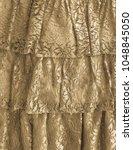 closeup of vintage lace dress... | Shutterstock . vector #1048845050