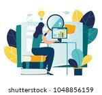 vector color illustration ... | Shutterstock .eps vector #1048856159
