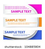 set of colorful horizontal... | Shutterstock .eps vector #104885804
