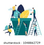 vector illustration. people... | Shutterstock .eps vector #1048862729