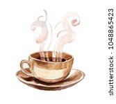 coffee house aromatic food in a ... | Shutterstock . vector #1048865423