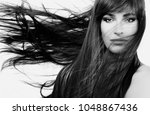 hair care and beauty concept... | Shutterstock . vector #1048867436
