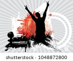 big music event. background... | Shutterstock .eps vector #1048872800