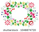 embroidery   floral ornament.... | Shutterstock .eps vector #1048874720