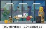 design of modern office... | Shutterstock .eps vector #1048880588