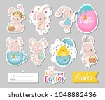 set of easter gift tags ...   Shutterstock .eps vector #1048882436