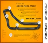 black race track circuit with... | Shutterstock .eps vector #1048884860