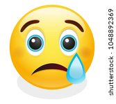 cry tear expression emoji... | Shutterstock .eps vector #1048892369
