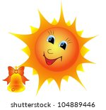 illustration of a cartoon sun...   Shutterstock .eps vector #104889446