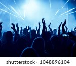 concert crowd in front of... | Shutterstock . vector #1048896104