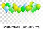 realistic helium balloons... | Shutterstock .eps vector #1048897796
