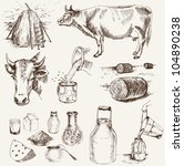 agriculture,animal,bovine,breakfast,bucket,cans,cattle,cheese,collection,cow,crock,curd,dairy,design,drink
