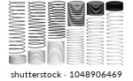 set with springs 3d.... | Shutterstock .eps vector #1048906469