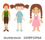 dolls toy character game dress... | Shutterstock .eps vector #1048910966