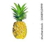 pineapple vector illustration.... | Shutterstock .eps vector #1048910999