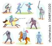 knight vector medieval... | Shutterstock .eps vector #1048911020