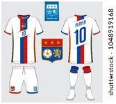 soccer jersey  football kit  t... | Shutterstock .eps vector #1048919168