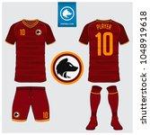 soccer jersey  football kit  t... | Shutterstock .eps vector #1048919618