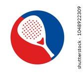 padel racket icon | Shutterstock .eps vector #1048922309