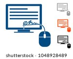 electronic signature  icon a...   Shutterstock .eps vector #1048928489