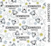 schnauzer   dog breed... | Shutterstock .eps vector #1048937030