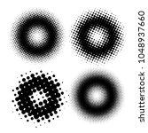 set of halftone dots vector... | Shutterstock .eps vector #1048937660