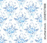 seamless floral pattern with... | Shutterstock .eps vector #1048937888