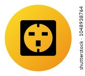 electrical outlet icon design... | Shutterstock .eps vector #1048938764