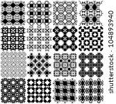 set of black and white seamless ...   Shutterstock .eps vector #104893940
