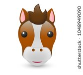 horse farm animals emoji...   Shutterstock .eps vector #1048949090