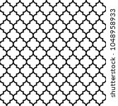 seamless pattern with ogee... | Shutterstock .eps vector #1048958933