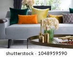colorful and stylish living... | Shutterstock . vector #1048959590