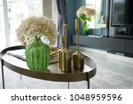 colorful and stylish living... | Shutterstock . vector #1048959596