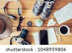 travel accessories trip...   Shutterstock . vector #1048959806