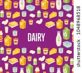 dairy seamless pattern with... | Shutterstock .eps vector #1048968518