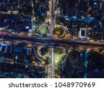 aerial view of the vehicular... | Shutterstock . vector #1048970969