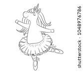 Cute Unicorn Ballerina Dancing  ...