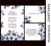 romantic invitation. wedding ... | Shutterstock . vector #1048976846